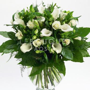 Mazzo Di Fiori Bianchi.Mazzo Misto Di Fiori Bianchi Le Bouquet